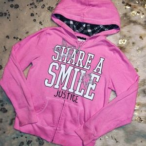 Justice✨Girls 10/12 Zip-up Sweatshirt
